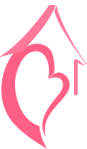 Heart and Home logo - pink